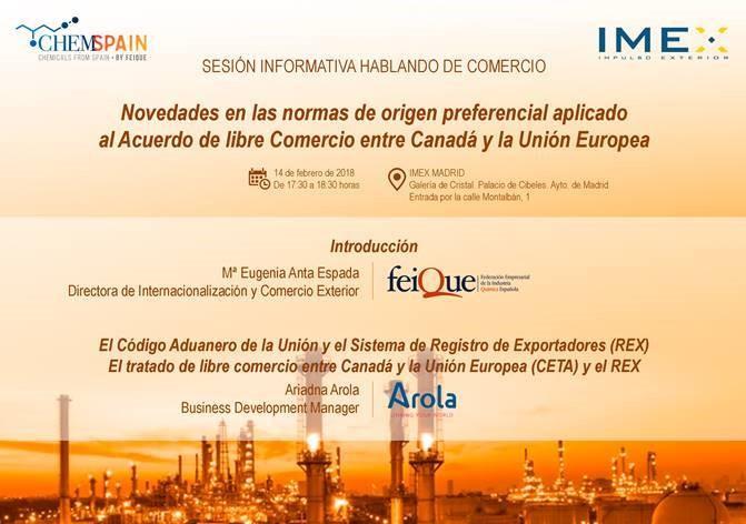 Aplicación del CETA – Miércoles 14 de febrero en IMEX Madrid