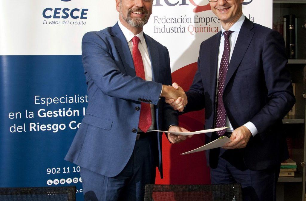 FEIQUE y CESCE suscriben un acuerdo de colaboración para fomentar la internacionalización de las empresas químicas españolas
