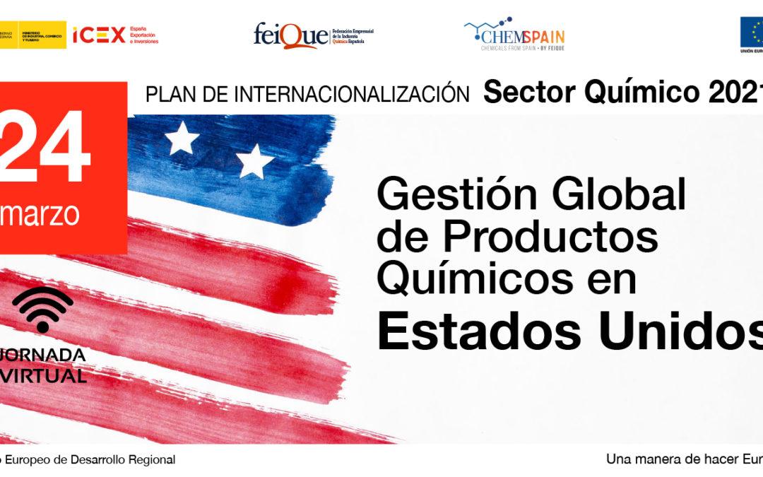 Jornada virtual sobre gestión global de la seguridad de los productos químicos en Estados Unidos 2021. 24.03.2021