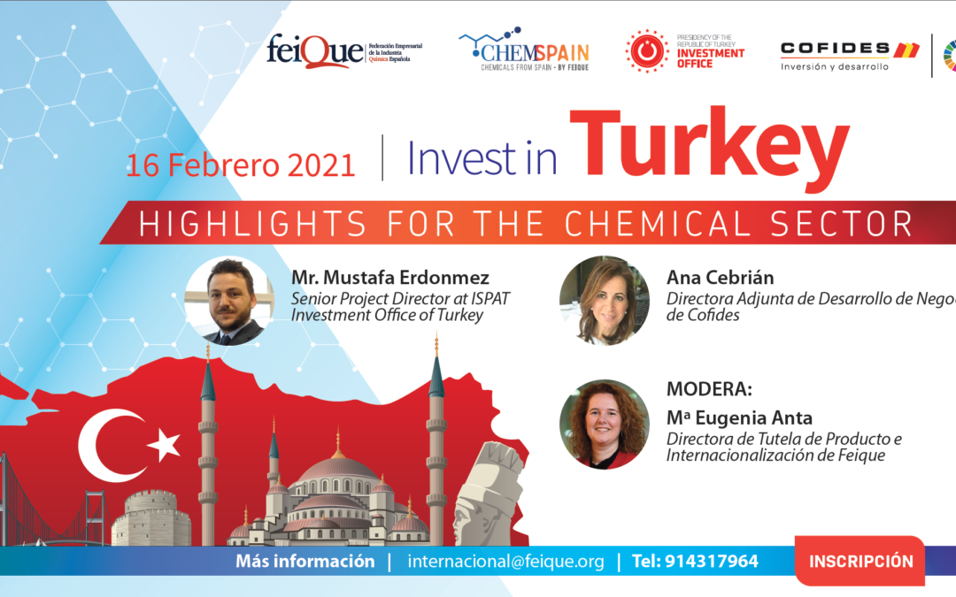 Jornada Invest in Turkey. Highlights of the chemical sector. 16.02.2021